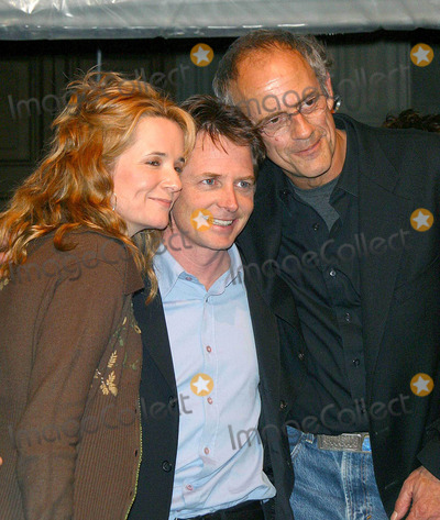 Lea Thompson Photo - Back to the Future Trilogy Dvd Launch Party Courthouse Square Universal City CA 121602 Photo by Milan RybaGlobe Photo Inc 2002 Lea Thompson Michael J Fox and Christopher Lloyd