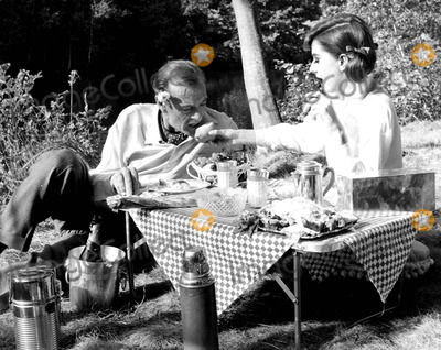 Gary Cooper Photo - Audrey Hepburn and Gary Cooper in Love in the Afternoon 1957 Ipol ArchiveipolGlobe Photos Inc Audreyhepburnretro