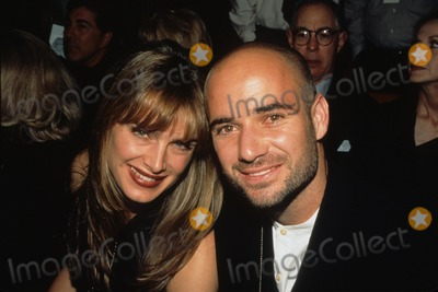 Andre Agassi Photo - Andre Agassi with Brooke Shields Holyfield  Moorer in Las Vegas Supplied by Globe Photos Inc