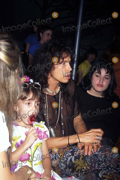 Aerosmith Photo - Betsey Johnson 1995 Spring Collection 1131994 Photo John Barrett Globe Photos Inc 1994 Aerosmith Steve Tyler and Family