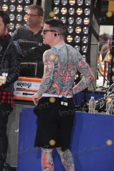 Andy Hurley Photo - Andy Hurley From Fall Out Boy Performing at NBC Today Show 7-19-2013 John BarrettGlobe Photos