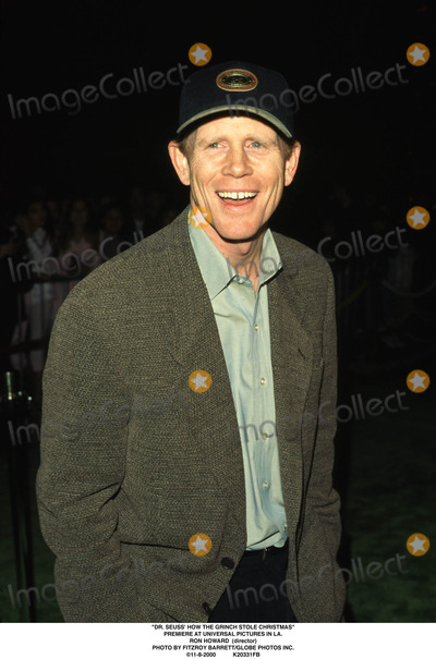 The Grinch Photo - Dr Seuss How the Grinch Stole Christmas Premiere at Universal Pictures in LA Ron Howard (Director) Photo by Fitzroy BarrettGlobe Photos Inc 11-8-2000