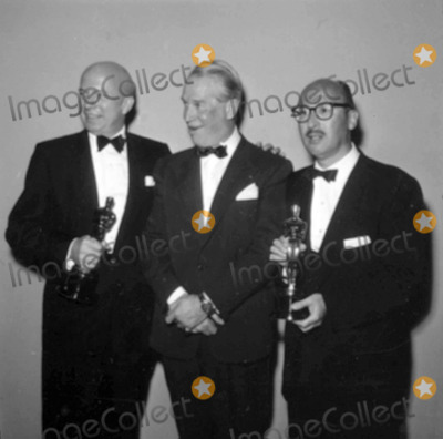 Maurice Chevalier Photo - Maurice Chevalier Sammy Cahn and Jimmy Van Heusen Photo by Globe Photos