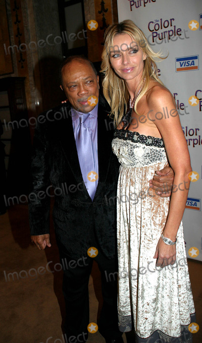Kimberly Conrad Photo -  the Color Purple  Opening Night After Party at the New York Public Library  New York City 12-01-2005 Photo by Barry Talesnick-ipol--Globe Photos Inc 2005 Quincy Jones and Kimberly Conrad Hefner