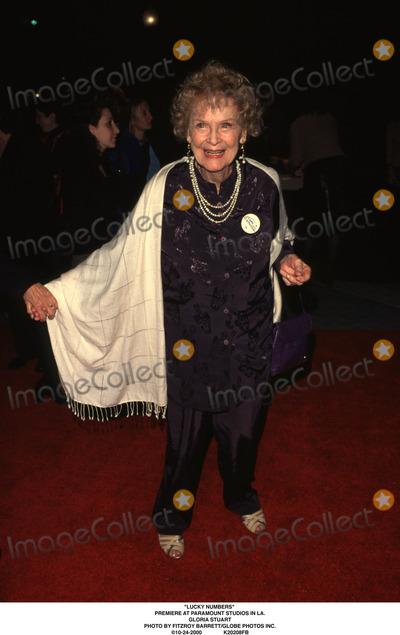 Gloria Stuart Photo - Lucky Numbers Premiere at Paramount Studios in LA Gloria Stuart Photo by Fitzroy BarrettGlobe Photos Inc 10-24-2000