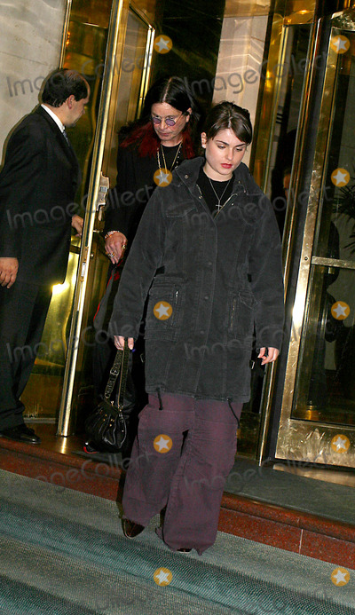 Aimee Osbourne Photo - Sd1126 Osbourne Family Leaving Hotel in New York City to Attend a Show by Kelly Osbourne at the Irvington Plaza Photo Byjohn BarrettGlobe Photos Inc 2002 Ozzy_aimee Osbourne