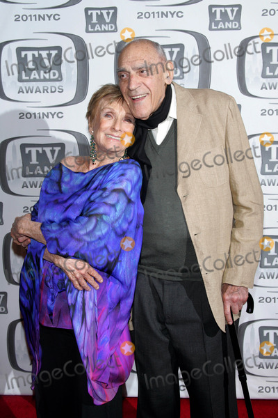 Abe Vigoda Photo - Abe Vigoda and Cloris Leachman Arrives For the Tv Land Awards at the Jacob Javits Center in New York on April 10 2011 photo by Sharon Neetlesglobe Photos Inc