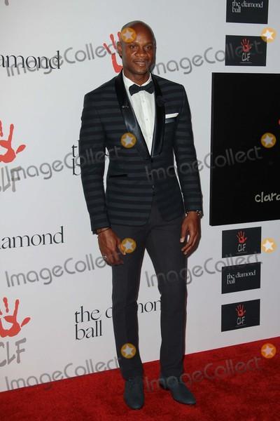 Asafa Powell Photo - Asafa Powell attends Rihannas Clara Lionel Foundation 2nd Annual Diamond Ball on December 10th 2015 at the Barker Hangar in Santa Monica Californiaphototony LoweGlobephotos