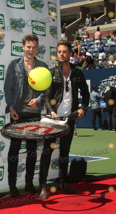 Adam Pitts Photo - Adam Pitts Right and Left Joel Peat attends 2013 Arthur Ashe Kids Day at Usta Billie Jean King National Tennis Center on 82413 in Flushing Qns Photo by Mitch Levy- Globe Photos Inc