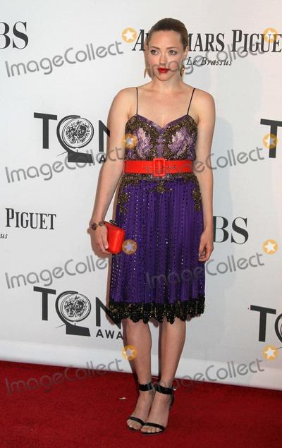 Amanda Seyfreid Photo - The 66th Annual Tony Awards the Beacon Theater NYC June 10 2012 Photos by Sonia Moskowitz Globe Photos Inc 2012 Amanda Seyfreid