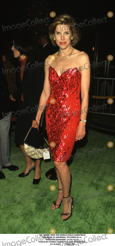 The Grinch Photo - Dr Seuss How the Grinch Stole Christmas Premiere at Universal Pictures in LA Christine Baranski (in the Movie) Photo by Fitzroy BarrettGlobe Photos Inc 11-8-2000