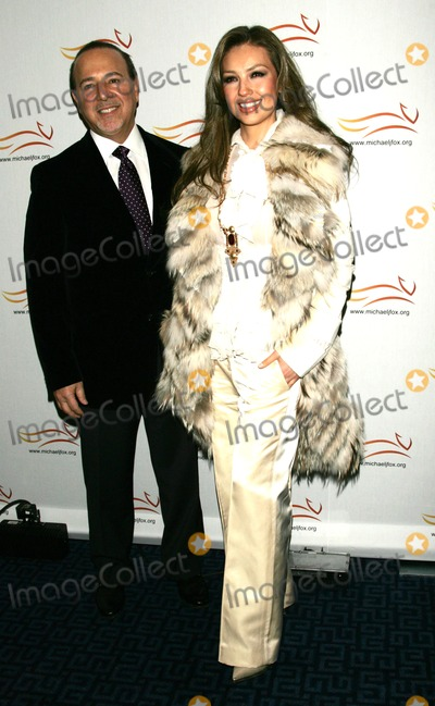 Thalia Mottola Photo - Thalia and Husband Tommy Mottola Arrive For the Michael J Fox Foundations a Funny Thing Happened on the Way to Cure Parkinsons Benefit Gala at the Sheraton Hotel in New York on November 5 2008 Photo by Terry GatanisGlobe Photos Inc