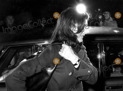 Jacqueline Kennedy Onassis Photo - Jacqueline Kennedy Onassis Going to Visit Husband Aristotle Onassis at the American Hospital in Nevilly France 21975 Tony GryllaGlobe Photos Inc
