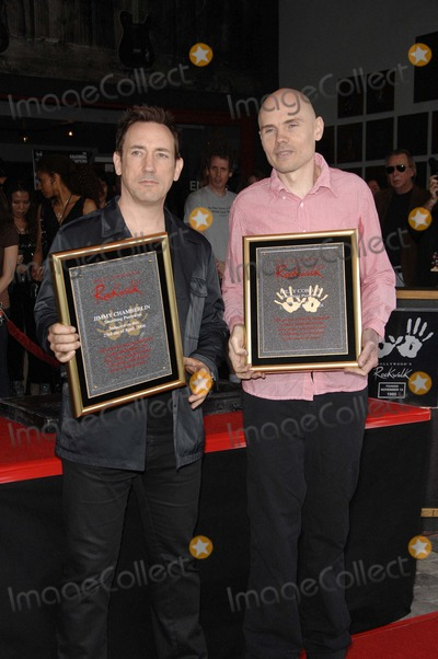 Jimmy Chamberlin Photo - Jimmy Chamberlin and Billy Corgan During the Induction Ceremony For the Smashing Pumpkins Into Hollywoods Rockwalk on April 23 2008 in Los Angeles Photo by Michael Germana-Globe Photos