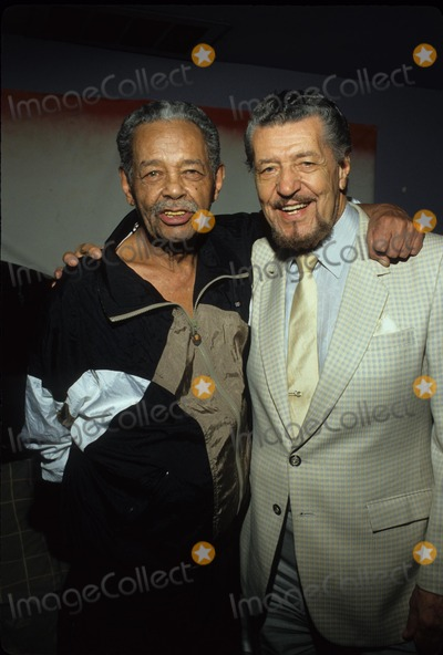 Herb Jeffries Photo - Billy Eckstine with Herb Jeffries Photo by Bob V Noble-Globe Photos Inc