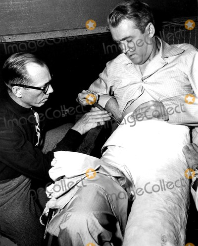 James Stewart Photo - Bill Sapp and James Stewart on the Set of Rear Window 1954 SmpGlobe Photos Inc