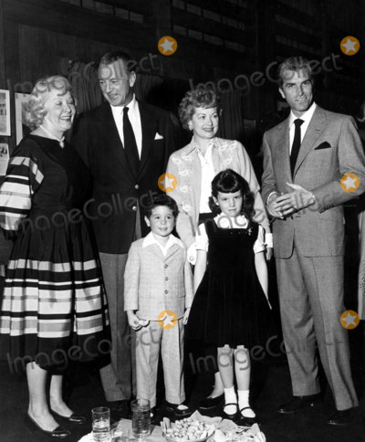 Desi Arnaz Photo - Vivian Vance Gary Cooper Lucille Ball Fernando Lamas Desi Jr and Lucie Supplied by SmpGlobe Photos Inc