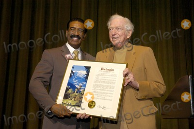 Sidney Sheldon Photo - Palm Springs Mayor Ron Oden with Sidney Sheldon at Sidney Sheldons 88th Birthday Party at the Camelot Theater in Palm Springs CA 2-10-2005 Photo Byned Redway-Globe Photos Inc 2005