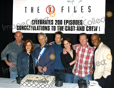 Chris Carter Photo - The X-files 200th Episode Celebration the Fox Studios Lot Los Angeles 542 Mitch Pileggi Gillian Anderson Chris Carter (Creator) David Duchovny Annabeth Gish Robert Patrick James Pickens Jr at Cake Cutting Credit AllstarGlobe Photos Inc