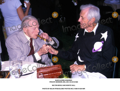 Milton Berle Photo - Buzz Aldrin Feted in Bel Air 81599 Milton Berle and Monte Hall Photo by Milan RybaGlobe Photos Inc 1999