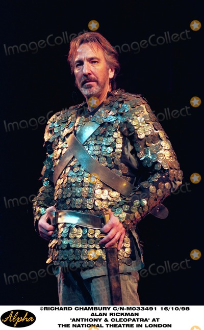 Alan Rickman Photo - 1098 Alan Rickman Perform in Anthony and Cleopatra at the National Theatre in London