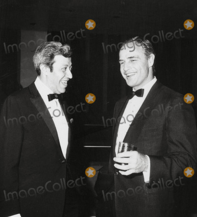 Adolph Green Photo - Adolph Green and Marlon Brando Snnc Benefit Photo Irv SteinbergGlobe Photos Inc