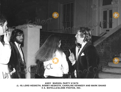 Andy Warhol Photo - Andy Warhol Party 31979 (L -R) Lord Hesketh Bobby Hesketh Caroline Kennedy and Mark Shand a BotellaGlobe Photos Inc