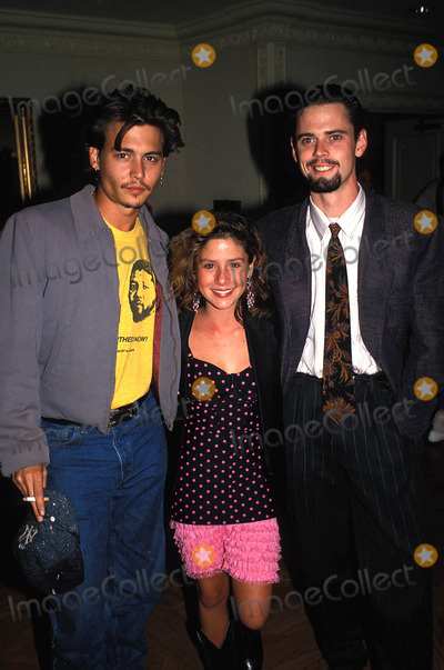 C Thomas Howell Photo - Soleil Moon Frye Johnny Depp and C Thomas Howell 08-1988 Photo by Michelson-Globe Photos