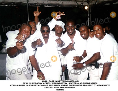 Hugh Edwards Photo - 499 - East Hamptonlong Island Sean Puff Daddy Combs with Industry Lawyers and Businessmen at His Annual Labor Day Cookout and Party Where Everyone Is Required to Wear White Credit  Hugh Edwards IpolGlobe Photos Inc