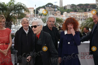 Alain Resnais Photo - French Director Alain Resnais (Sunglasses) and Producer Jean-louis Livi (l-r) Actors Pierre Arditi Sabine Azema and Hippolyte Girardot Pose at the Photocall of You Aint Seen Nothin Yet During the 65th Cannes Film Festival at Palais Des Festivals in Cannes France on 21 May 2012 Photo Alec Michael Photo by Alec Michael-Globe Photos Inc