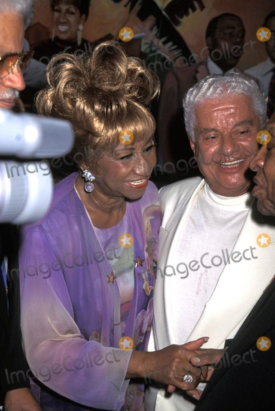 Tito Puente Photo - Grand Opening of Tito Puentes Restaurant 072595 Celia Cruz with Tito Puente and Lionel Hampton Photo by John BarrettGlobe Photos Inc Celiacruzretro