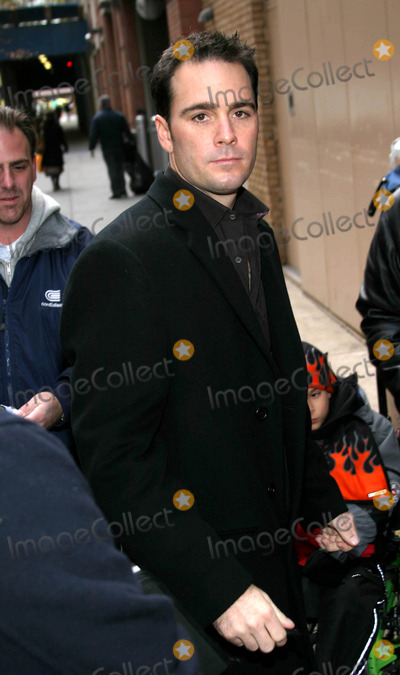 NASCAR DRIVERS Photo - Simon Cowell and Nascar Driver Jimmie Johnson Leaving Regis and Kelly Show  New York City 12022003 Photo by Rick Mackler  Rangefinders  Globe Photosinc Jimmie Johnson