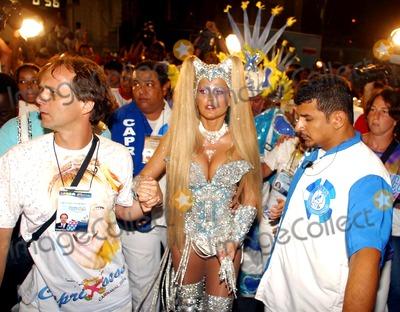 Xuxa Photo - Rio DE Janeiro Brasil Brazilian Tv Presenter Xuxa Arriving Rio de Janeiro Carnival Parade 02232004 Photo Robson Moreiracity FilesGlobe Photosinc