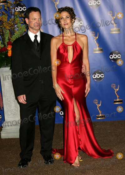 Gary Sinise Photo - 56th Annual Primetime Emmy Awards Pressroom at the Shrine Auditorium in Los Angeles California 091904 Photo by Ed GelleregiGlobe Photos Inc 2004 Melina Kanakaredes and Gary Sinise
