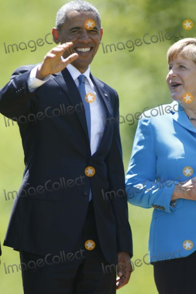 Angela Merkel Photo - Us President Barack Obama and German Chancelor Angela Merkel Attend the G7 Summit at Elmau Castle Near Garmisch-partenkirchen Germany on 07 June 2015 Photo Alec Michael