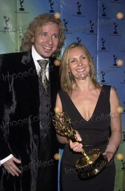 Angie Stephenson Photo - 30th International Emmy Awards Gala Sheraton Hotel NYC 11252002 Photo by John KrondesGlobe Photos Inc 2002 Thomas Gottschalk Angie Stephenson