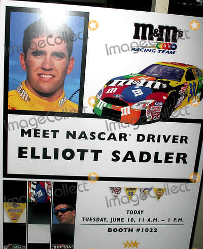 NASCAR DRIVERS Photo - (mm) Nascar Driver Elliott Sadler Makes an Appearance at the Licensing International 2003 Show at the Jacob K Javits Convention Center in New York City 6102003 Photo Byjohn BarrettGlobe Photos Inc