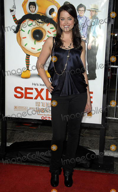 ASHLEY NEWBROUGH Photo - Summit Entertainment Presents the Los Angels Premiere of Sex Drive Held at the Manns Village Theatrewestwood California101508 Photodavid Longendyke-Globe Photos Inc2008 Image Ashley Newbrough