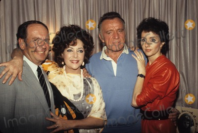 Richard Burton Photo - Richard Burton with Wife Sally Hay Double Ex-wife Actress Elizabeth Taylor and Her Fiance Lawyer Victor Luna N0130 Supplied by Globe Photos Inc
