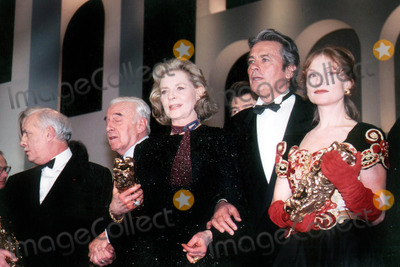 Alain Delon Photo - Laurenbacallretro Lauren Bacall_isabelle Hupert_alain Delon Imapress  Globe Photosinc