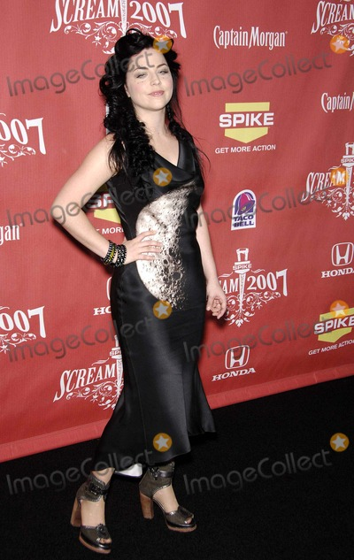 Amy Lee Photo - Amy Lee During Spike Tvs Scream 2007 Held at the Greek Theater on October 19 2007 in Los Angeles Photo by Michael Germana-Globe Photosinc
