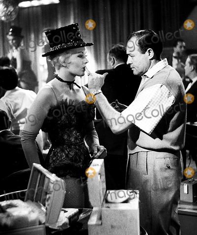 Kim Novak Photo - Kim Novak and Makeup Man Benny Lane on the Set of Pal Joey 1957 Supplied by Globe Photos Inc Kimnovakretro