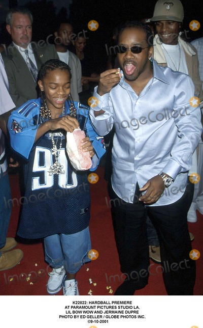 Lil Bow Wow Photo -  Hardball Premiere at Paramount Pictures Studio LA Lil Bow Wow and Jermaine Dupre Photo by Ed Geller  Globe Photos Inc 9-10-