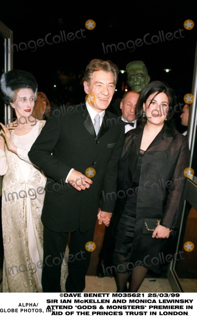 Monica Lewinsky Photo - 0399 London Uk Premiere of Gods and Monsters Benefiting the Princes Trust at the Odean West End Monica Lewinsky and Sir Ian Mckellen