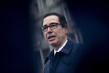 Photos From United States Secretary of the Treasury Steven T. Mnuchin Speaks to the Media