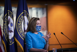 Nancy Pelosi Photo - Speaker of the United States House of Representatives Nancy Pelosi (Democrat of California) offers remarks during her weekly press conference at the US Capitol in Washington DC Thursday April 22 2021 Credit Rod Lamkey  CNPAdMedia