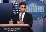 Photo - Mayors Francis Suarez speaks at White House Press Briefing