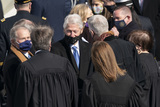 The Supremes Photo - Former Presidents George W Bush and Bill Clinton speak with members of the Supreme Court at the Inauguration of Joe Biden as the 46th President of the US at the US Capitol in Washington DC on Wednesday January 20 2021  Credit Chris Kleponis  CNPAdMedia