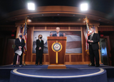 Photos From Senate Majority Leader Chuck Schumer Holds Press Conference