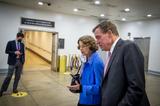 Photos From Democrat Senators meet regarding United States Senate Minority Leader Mitch McConnell (Republican of Kentucky) debt solution options